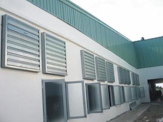 hệ thống quạt hút không khí nóng
