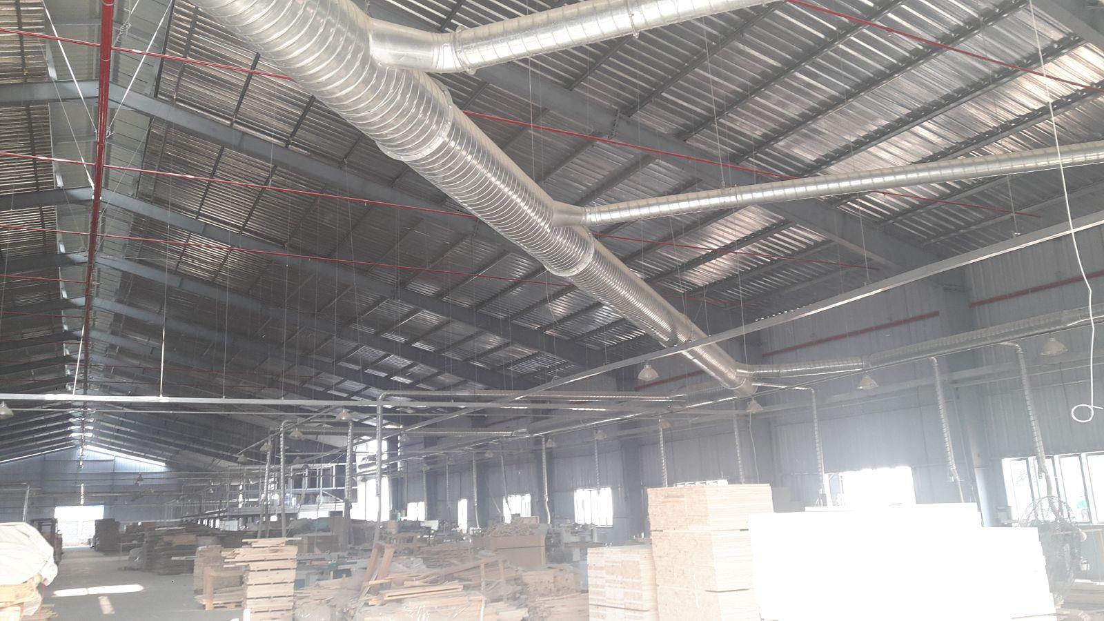 hệ thống hút bụi xưởng chế biến gỗ