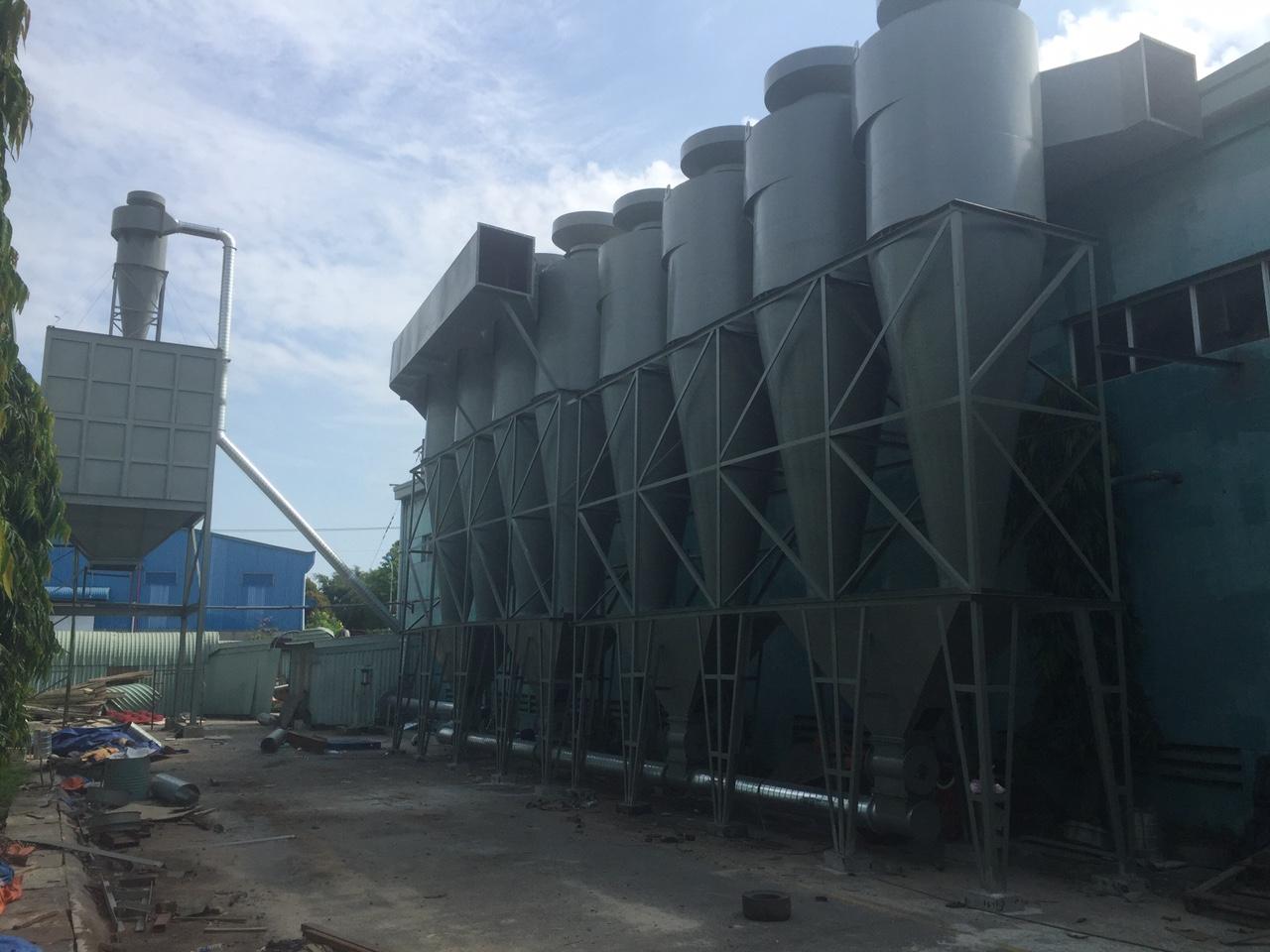 Hệ thống hút bụi nhà máy xát gạo